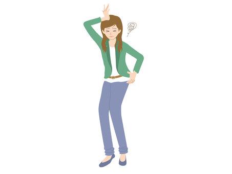 Woman / Backache / Headache
