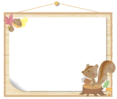 Cute squirrel message board