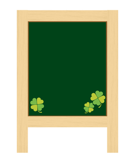Store signboard (with clover)