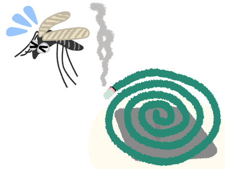 Mosquito running away with mosquito coil