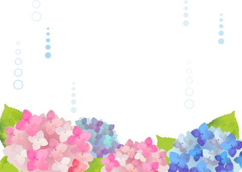 Watercolor-like hydrangeic background illustration
