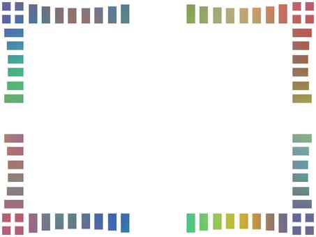 グラデーションフレームシンプル飾り枠素材