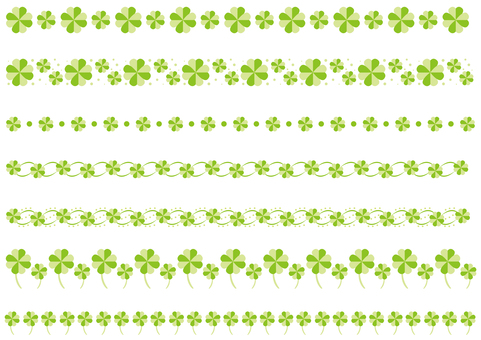Ruled line - Clover - Green