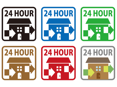 24 hour ventilation icon