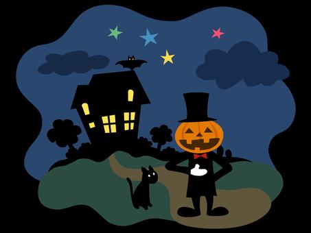 Jack Lantern's Butler and Black Cat