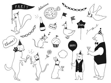 동물들의 파티 모노톤