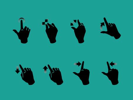 手,手指,手勢操作智能手機06
