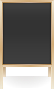 Wooden menu board · beige