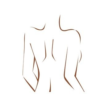 Female back (line drawing)