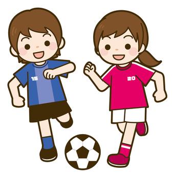 State of soccer game (girl)