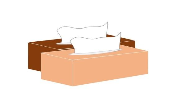 Box Tissue warm color