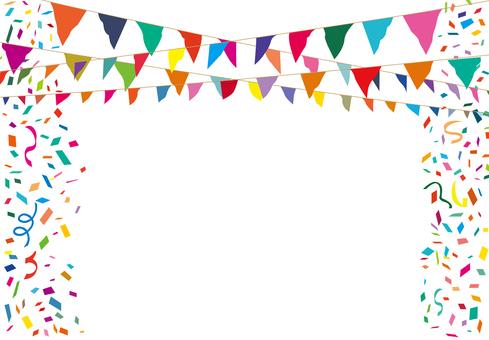 加兰国旗国旗运动党五彩纸屑背景装饰