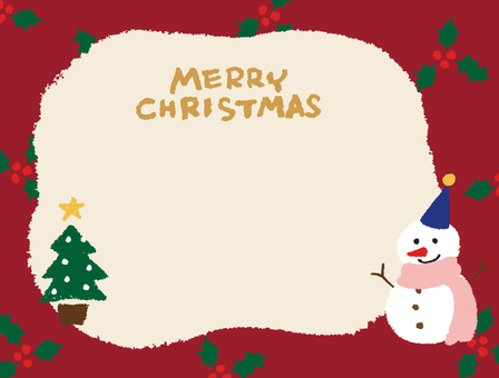 Christmas card crayon picture