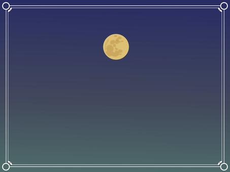 Simple frame moon