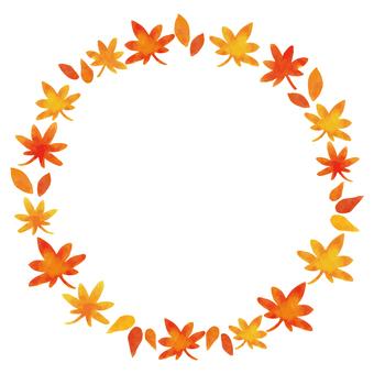 秋フレーム 紅葉 葉っぱ