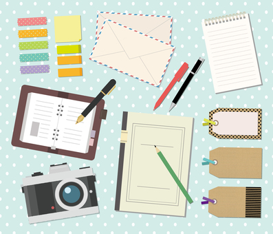 Set illustration of stationery