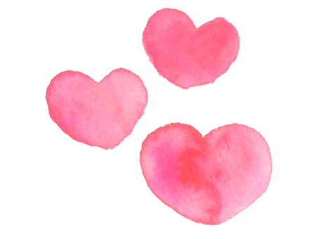Heart pink (watercolor)