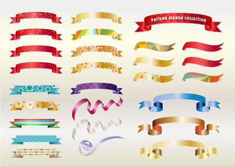 Pattern ribbon collection