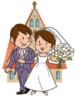 Wedding ceremony, chapel