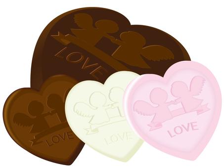 3 kinds of chocolate