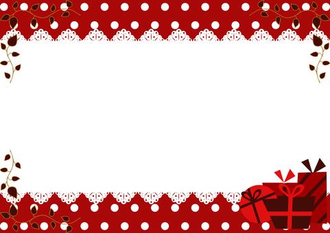 Gift box frame valentine