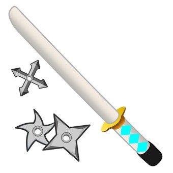 Sword and shuriken