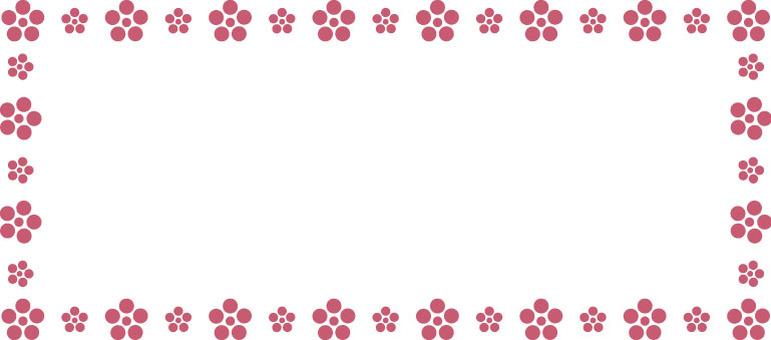 Plum flower mini frame