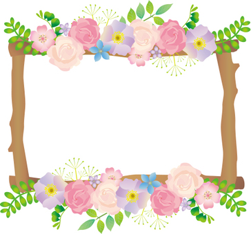 Flower and tree branch frame
