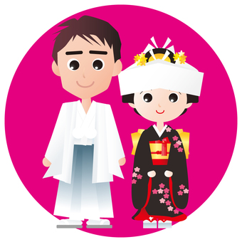 Japanese-style bride and groom