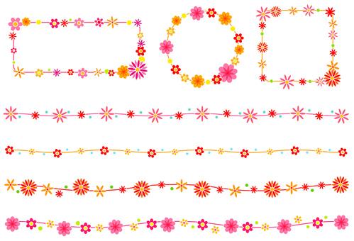 Flower material - Border frame