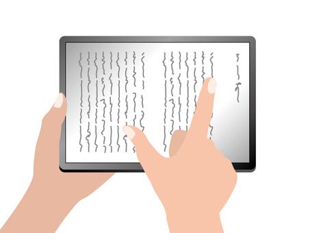E-book ebook (1) Horizontal / vertical writing