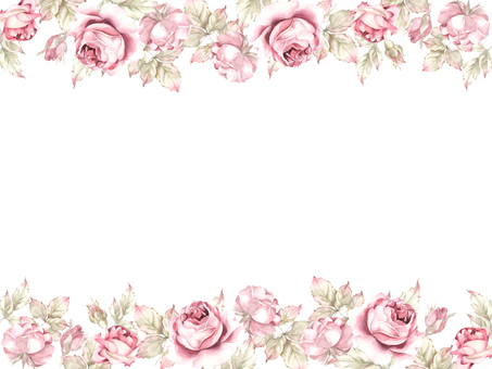 กรอบรูปดอกไม้ 403 - กรอบดอกไม้สีกุหลาบคลาสสิค
