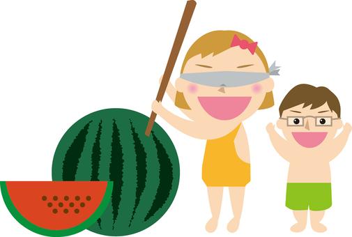 Watermelon split parent and child