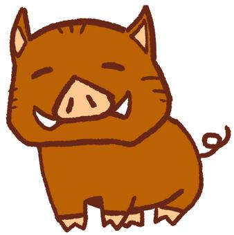 """조디악 동물 """"돼지""""멧돼지 1"""