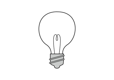 Light bulb (extinguished)