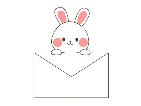 A rabbit with an envelope