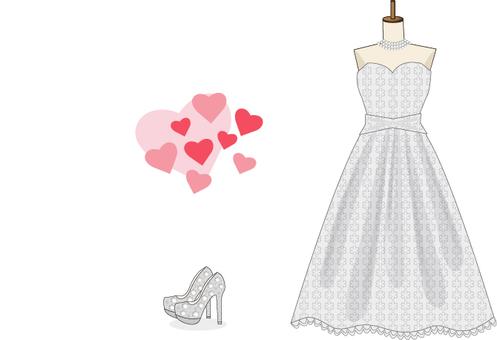 Dress high heels heart