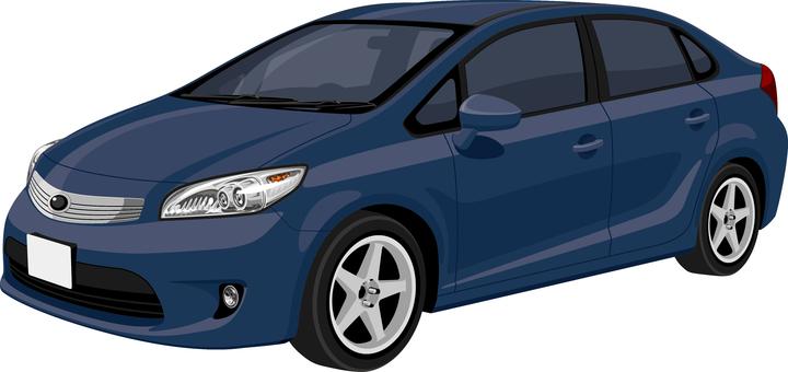 Car sedan Seven three dark blue