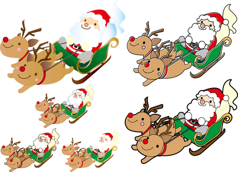 Santa Claus Set on a Sled