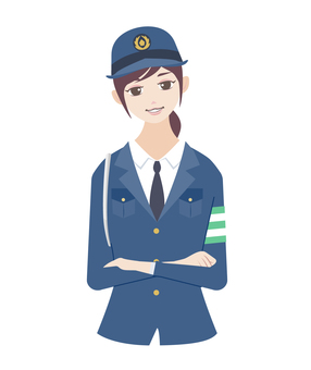 Police officer (female) Arms pose