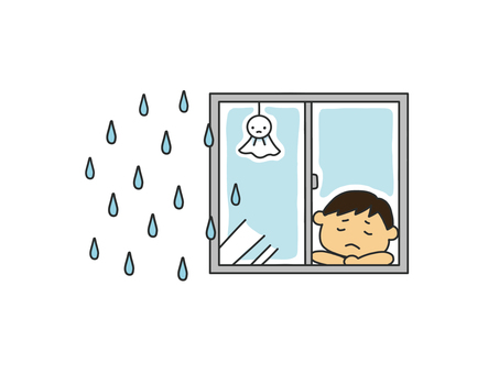 雨で残念な子供