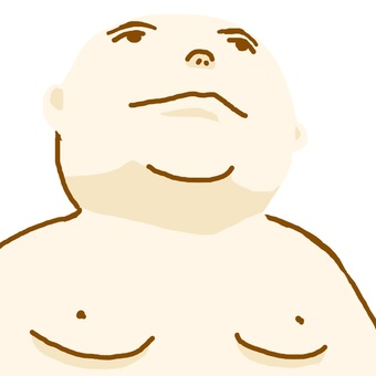 一個胖老頭。