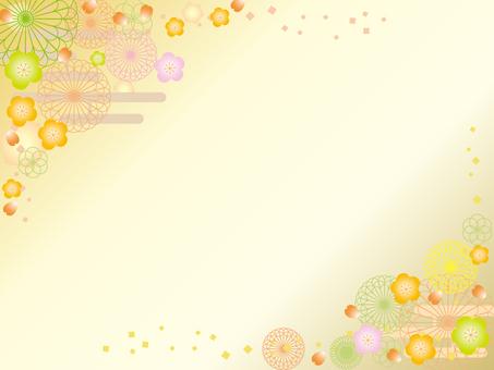 日本紙_花卉圖案_李子4