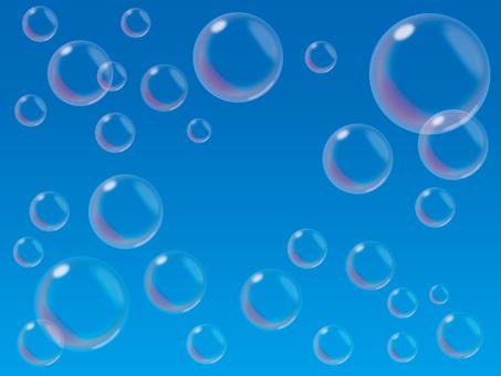 Soap bubble (1) blue sky