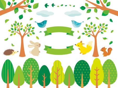 绿色的插图