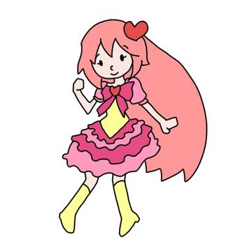 A girl wearing a Furifuri costume