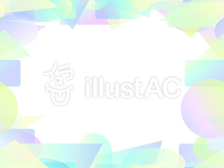 パステル調のカラフルな短形フレーム1c