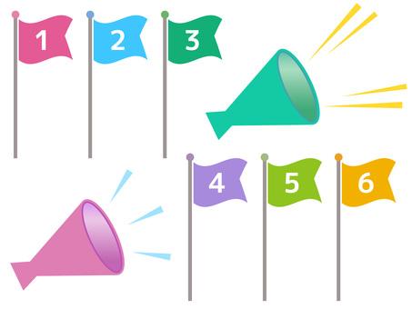5612. Flag, megaphone 3