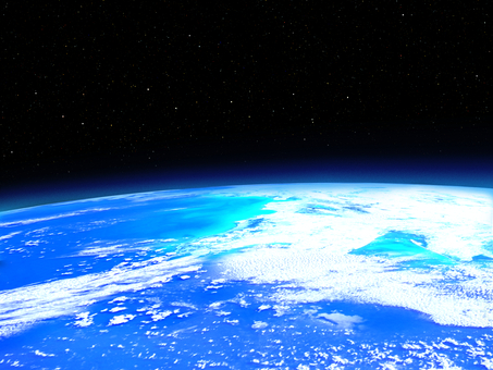 Earth seen from the satellite