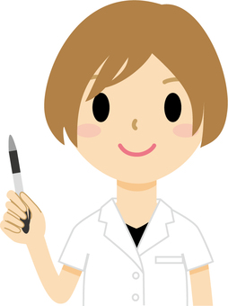 Female with a pen 5 (doctor)